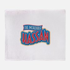The Incredible Hassan Throw Blanket