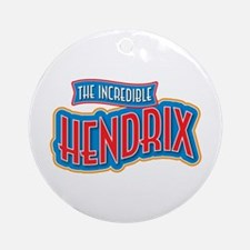 The Incredible Hendrix Ornament (Round)