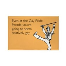 Relatively Gay Rectangle Magnet