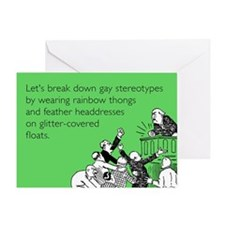 Gay Stereotypes Greeting Card