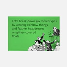 Gay Stereotypes Rectangle Magnet