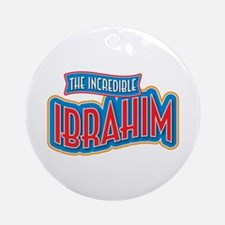The Incredible Ibrahim Ornament (Round)