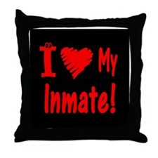 Love My Inmate Throw Pillow