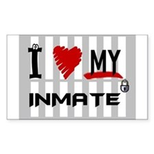 Love My Inmate Rectangle Decal