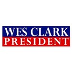 Wes Clark for President bumper sticker