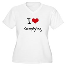 I love Complying Plus Size T-Shirt