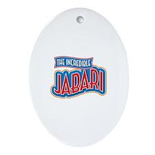 The Incredible Jabari Ornament (Oval)