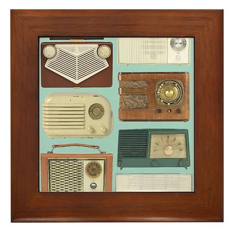 Classic Radios Framed Tile