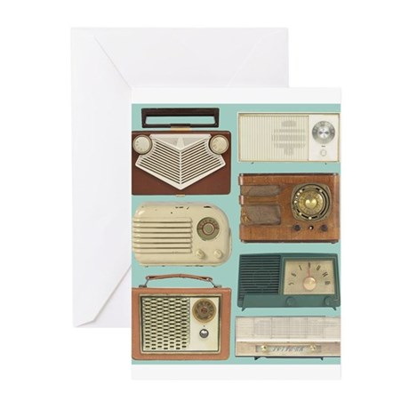 Classic Radios Greeting Cards (Pk of 10)