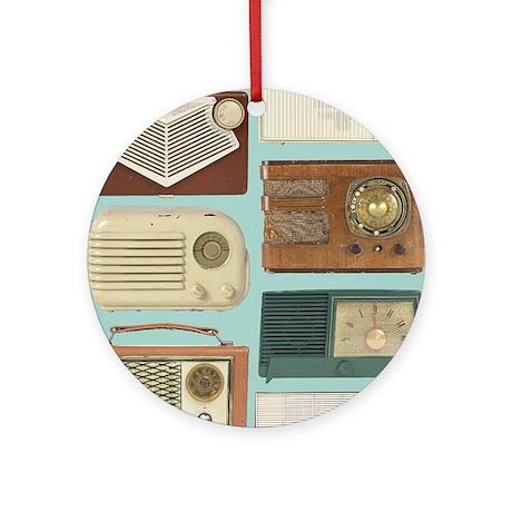 Classic Radios Ornament (Round)