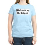 What would New Baby do Women's Pink T-Shirt