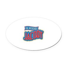The Incredible Jacoby Oval Car Magnet
