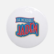 The Incredible Jaden Ornament (Round)