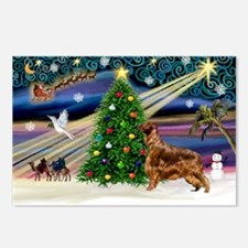XmasMagic/Irish Setter Postcards (Package of 8)