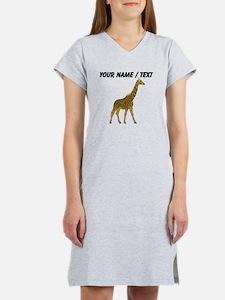 Custom Giraffe Women's Nightshirt