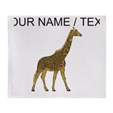 Custom giraffe Fleece Blankets