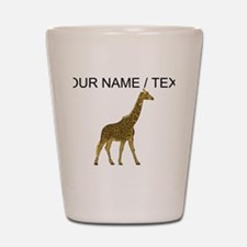 Custom Giraffe Shot Glass
