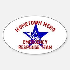 Hometown Hero ERT Oval Decal