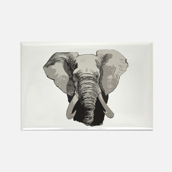 African elephant Rectangle Magnet (10 pack)