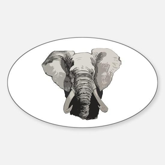 African elephant Sticker (Oval)