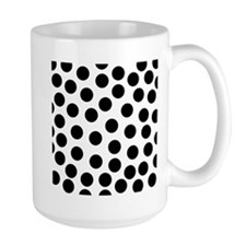 Big Black Polka Dots Mug