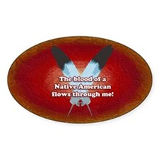 Native Blood Oval Decal