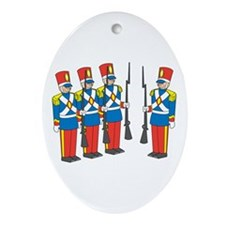 Toy Soldiers Oval Ornament