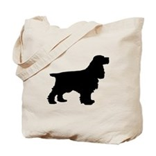 Cocker Spaniel Black Tote Bag