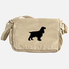 Cocker Spaniel Black Messenger Bag