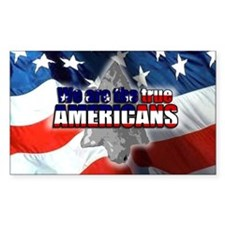 True Americans Rectangle Decal
