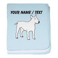 Custom English Bull Terrier baby blanket