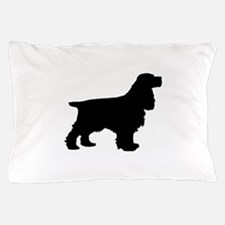 Cocker Spaniel Black Pillow Case