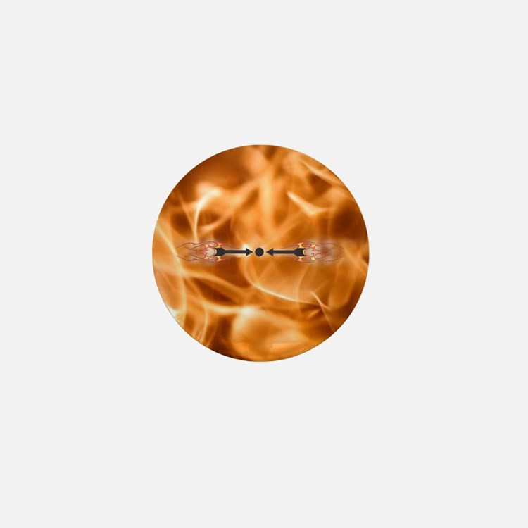 Warding off Evil (Flame) Mini Button