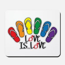 Love Is Love Flip Flops Gay Mousepad