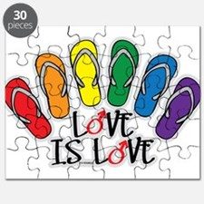 Love Is Love Flip Flops Gay Puzzle