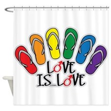 Love Is Love Flip Flops Gay Shower Curtain