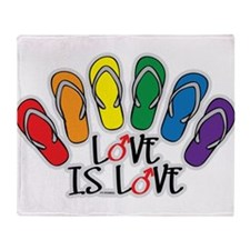 Love Is Love Flip Flops Gay Throw Blanket