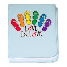 Love Is Love Flip Flops Gay baby blanket