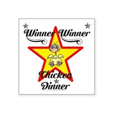 Winner winner Chicken dinner design Sticker