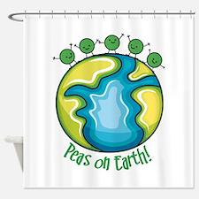 Peas on Earth Shower Curtain