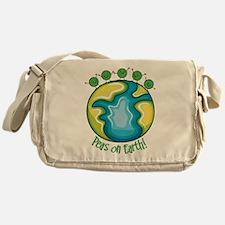 Peas on Earth Messenger Bag