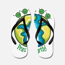 Peas on Earth Flip Flops