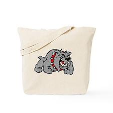 grey bulldog Tote Bag