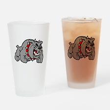 grey bulldog Drinking Glass