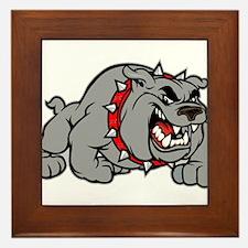 grey bulldog Framed Tile