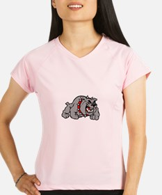grey bulldog Peformance Dry T-Shirt