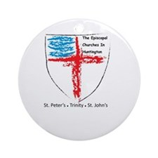 Episcopal Churches in Huntington Ornament (Round)
