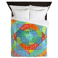 Sacred Geometry Queen Duvet Cover