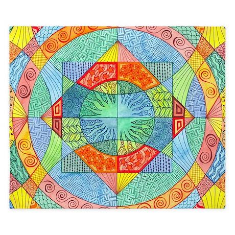 Sacred Geometry King Duvet Cover