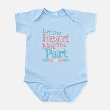 Heart Not The Part Transgender Infant Bodysuit